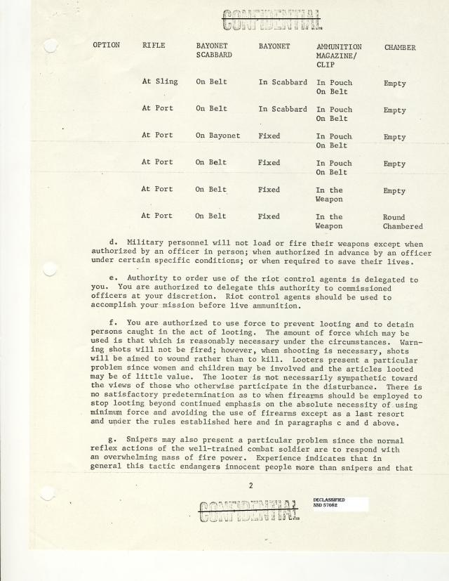 Letter to Major General Thomas G. Wells, Jr.  Commanding General, 30th Armored Division page 2