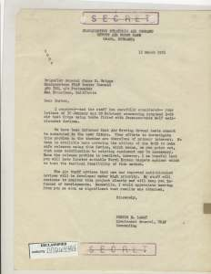 Correspondence from Lt. Gen. Lemay and Brig. Gen. Robert H. Terrell concerning new weapons tactics