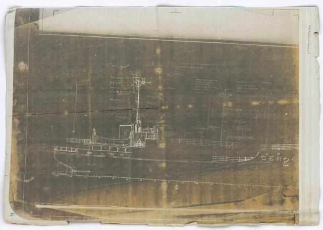 Outboard Profile USS Pueblo (AGER-2) ca. 1966