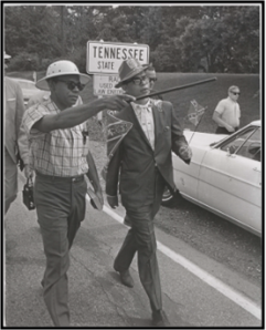 "James Meredith starting his  ""March Against Fear""."